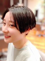 前髪長めツーブロックショート(髪型ベリーショート)