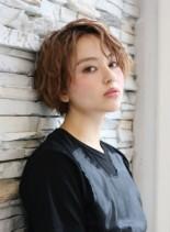 小顔効果OK◎カッコ可愛い ボブパーマ(髪型ショートヘア)