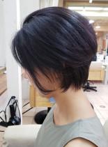 30代40代50代大人女性ひし形ショート(髪型ショートヘア)