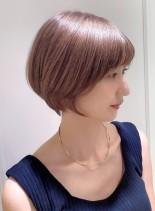 横顔も美人に☆大人上品なショートボブ(髪型ショートヘア)