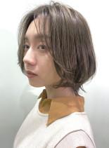 お手入れ簡単外ハネMixボブレイヤー(髪型ボブ)