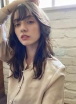 髪質改善カラー☆ふんわりデジタルパーマ(髪型セミロング)