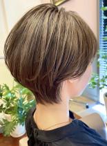 大人女子に人気急上昇☆透け感ショートへア(髪型ショートヘア)