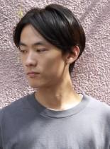 センターパートメンズスタイル(髪型メンズ)