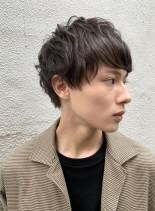 王道マッシュパーマ×ツーブロックショート(髪型メンズ)