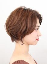 30代〜50代オススメ!前髪長めショート(髪型ショートヘア)