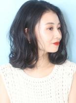◇大人のゆるパーマロブ◇(髪型ミディアム)