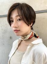 30代40代 大人の色気ハンサムショート(髪型ショートヘア)