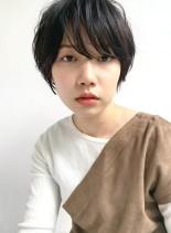 30代40代 大人の毛先パーマショート(髪型ショートヘア)