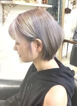 小顔ショートボブ(髪型ショートヘア)