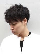 メンズ 強めミックスパーマスタイル(髪型メンズ)