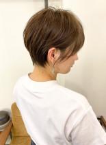 大人可愛い☆丸み×くびれ横顔美人ショート(髪型ショートヘア)