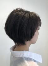 大人ショート ショートボブスタイル(髪型ショートヘア)