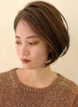 30代40代向け秋の大人ショートボブ(髪型ボブ)