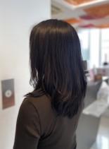 セミロングレイヤー(髪型セミロング)