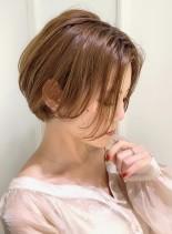大人綺麗な前下がりショートボブ(髪型ショートヘア)