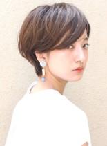 30代40代 大人ショートボブ(髪型ショートヘア)