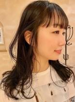 小顔ロングレイヤー【結んでも可愛い◎】(髪型セミロング)