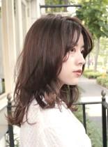大人のレイヤーセミディ(髪型セミロング)