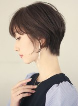 30代40代 お手入れ簡単ショートヘア (髪型ショートヘア)