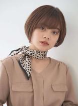 ゆったり丸みショートボブ(髪型ショートヘア)