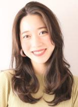 ワンカールで動くレイヤースタイル☆(髪型セミロング)