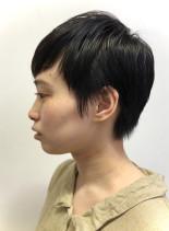 柔らかでシンプルなかわいいベリーショート(髪型ベリーショート)