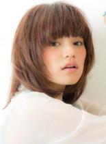 レイヤーボブ(髪型ミディアム)