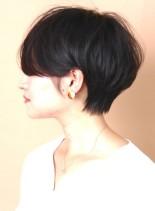 ☆大人の黒髪ふんわりショートヘア☆(髪型ショートヘア)