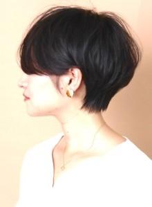 ☆大人の黒髪ふんわりショートヘア☆