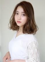 小顔★無造作カールボブディパーマ(髪型ミディアム)