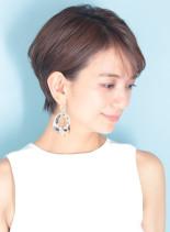 30代40代大人の耳掛けひし形ショート☆(髪型ショートヘア)
