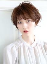 スタイリング簡単☆耳かけ小顔ショートボブ(髪型ショートヘア)