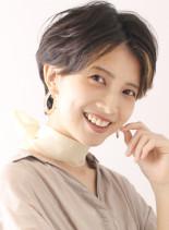 ポイントカラー/ハンサムショート(髪型ショートヘア)