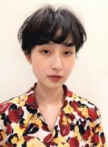 大人*前髪長めマッシュショート(髪型ショートヘア)