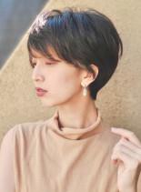 30代大人女性のマニッシュショート(髪型ショートヘア)