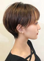耳周りすっきりミニショート(髪型ショートヘア)