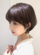 大人綺麗な小顔ショートボブ(髪型ショートヘア)