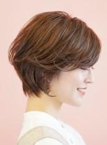 朝楽★お手入れ簡単ショートボブ(髪型ショートヘア)