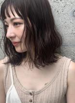 20代30代◎小顔無造作カールボブディ☆(髪型ミディアム)