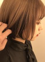ブラックインナーボブ(髪型ボブ)