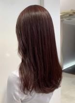 秋のカシスカラー(髪型ロング)