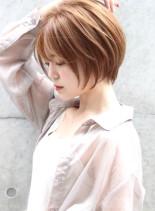お手入れ簡単☆大人可愛いショートボブ (髪型ショートヘア)