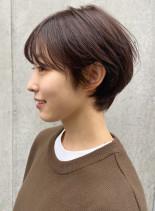 秋の大人ショートボブ(髪型ショートヘア)