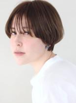 30代 40代 丸みマッシュショート(髪型ショートヘア)