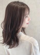 大人の美髪☆ラベンダーブラウン(髪型セミロング)