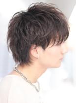マッシュウルフ ツーブロック(髪型メンズ)