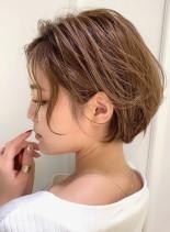 大人美人なウェーブショートボブ(髪型ショートヘア)