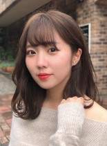 【耳かけ美人・色っぽミディアム】(髪型ミディアム)