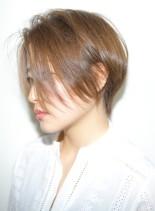 前下がり大人ショート(髪型ショートヘア)